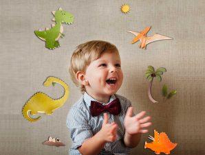 Διακοσμητικά αυτοκόλλητα τοίχου Dinosaurs 3D