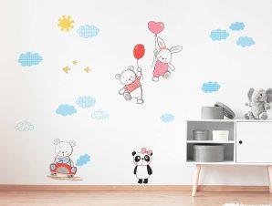 Διακοσμητικά αυτοκόλλητα τοίχου Funny Bears