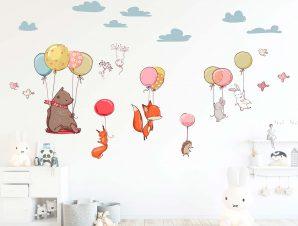 Διακοσμητικά αυτοκόλλητα τοίχου Flying animals
