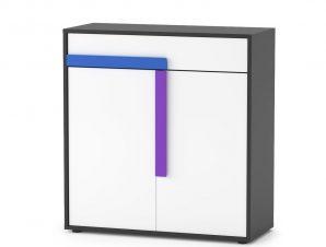 """Ντουλάπι """"ALEX"""" σε χρώμα γραφίτη-δρυς-σονομα-λευκό 84x36x87"""