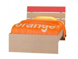"""Παιδικό κρεβάτι """"ΝΟΤΑ"""" μονό σε χρώμα δρυς-κόκκινο 90×190"""