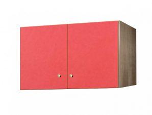 Πατάρι ντουλάπας δίφυλλο σε χρώμα δρυς-κόκκινο 105x50x60