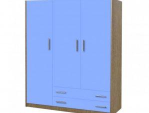 Ντουλάπα παιδική τρίφυλλη χρώματος δρυς-σιελ 110x50x180