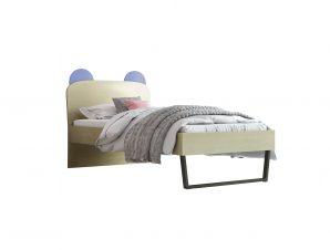 """Παιδικό κρεβάτι """"ΚΟΡΩΝΑ"""" μονό σε χρώμα δρυς-σιελ 90×190"""