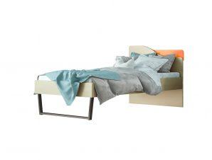 """Παιδικό κρεβάτι """"ΤΟΞΟ"""" μονό σε χρώμα δρυς-κόκκινο 90×190"""
