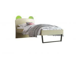 """Παιδικό κρεβάτι """"ΚΟΡΩΝΑ"""" ημίδιπλο σε χρώμα δρυς-λαχανί 110×190"""