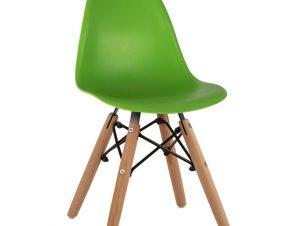 """Καρέκλα παιδική """"TWIST KID"""" από PP σε χρώμα φυσικό/πράσινο 30,5x33x59"""