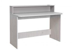 """Γραφείο εργασίας """"NUMERO"""" σε λευκό-γκρι χρώμα 120x60x75/93"""