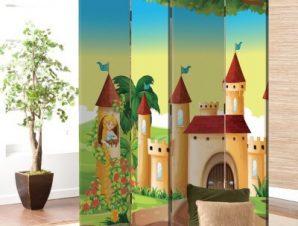Πριγκίπισσα Στο Κάστρο Παιδικά Παραβάν 80 x 180 εκ. [Δίφυλλο]