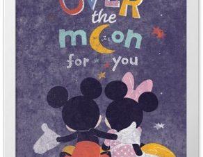 Πέρα απο το φεγγάρι με τον Mickey και τη Minnie Παιδικά Πίνακες σε καμβά 20 x 30 εκ.