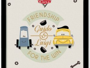 Guido & Luigi, Cars Παιδικά Πίνακες σε καμβά 40 x 40 εκ.