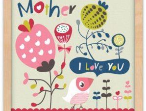 I love you mother Παιδικά Πίνακες σε καμβά 40 x 40 εκ.