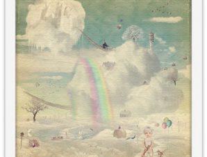 Ονειρεμένη πόλη στον ουρανό Παιδικά Πίνακες σε καμβά 40 x 40 εκ.