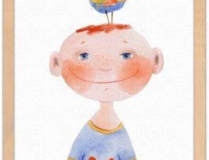 Αγοράκι Παιδικά Πίνακες σε καμβά 20 x 30 εκ.