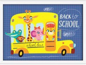 Back to school Παιδικά Πίνακες σε καμβά 30 x 20 εκ.