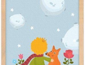 Παιδί κοιτάει τα άστρα Παιδικά Πίνακες σε καμβά 20 x 30 εκ.