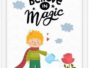 Πίστεψε στη μαγεία Παιδικά Πίνακες σε καμβά 20 x 30 εκ.