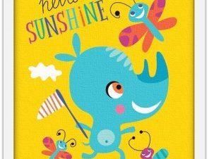 Γεια σου λιακάδα! Παιδικά Πίνακες σε καμβά 20 x 30 εκ.
