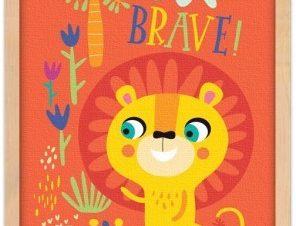 Γενναίο λιονταράκι Παιδικά Πίνακες σε καμβά 20 x 30 εκ.