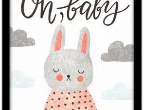 Little bunny Παιδικά Πίνακες σε καμβά 20 x 30 εκ.