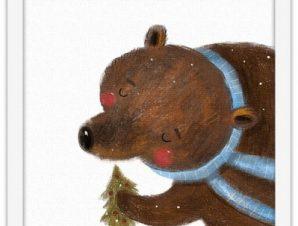 Ο μπαμπάς αρκούδος Παιδικά Πίνακες σε καμβά 40 x 40 εκ.