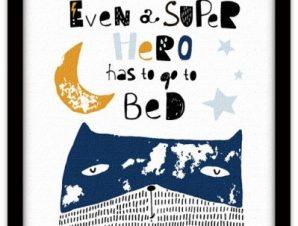 Και οι υπερήρωες κοιμούνται Παιδικά Πίνακες σε καμβά 40 x 40 εκ.
