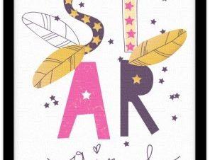 Κορίτσι αστέρι Παιδικά Πίνακες σε καμβά 20 x 30 εκ.