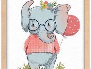 Ελεφαντίνα Παιδικά Πίνακες σε καμβά 20 x 30 εκ.