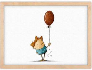 Αγοράκι κρατάει μπαλόνι Παιδικά Πίνακες σε καμβά 30 x 20 εκ.