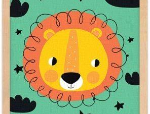 Λιονταράκι Παιδικά Πίνακες σε καμβά 20 x 30 εκ.