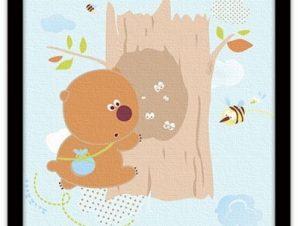 Γουίνι το αρκουδάκι Παιδικά Πίνακες σε καμβά 40 x 40 εκ.