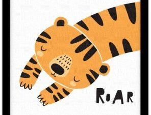 Μικρή τίγρης Παιδικά Πίνακες σε καμβά 20 x 30 εκ.