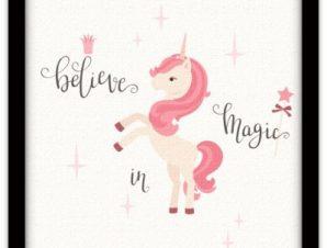 Believe in magic Παιδικά Πίνακες σε καμβά 40 x 40 εκ.