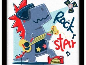 Rockstar Παιδικά Πίνακες σε καμβά 40 x 40 εκ.