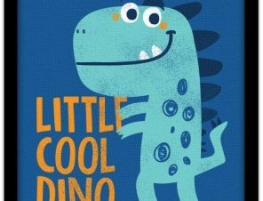 Little cool dino Παιδικά Πίνακες σε καμβά 20 x 30 εκ.