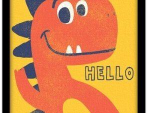 Δεινοσαυράκι Παιδικά Πίνακες σε καμβά 20 x 30 εκ.