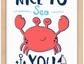Nice to sea you Παιδικά Πίνακες σε καμβά 20 x 30 εκ.