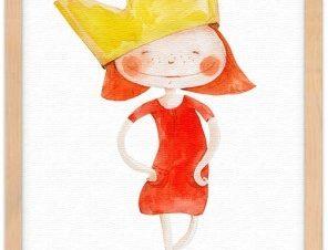 Στυλάτη πριγκίπισσα Παιδικά Πίνακες σε καμβά 20 x 30 εκ.