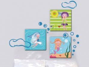 Κοριτσάκια Παιδικά Πίνακες και αυτοκόλλητα 136×43