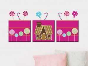 Καραμελόκοσμος Παιδικά Πίνακες και αυτοκόλλητα 96×43