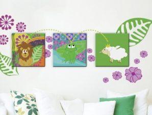 Ζούγκλα Παιδικά Πίνακες και αυτοκόλλητα 120×68