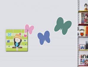 Κορίτσι σε κούνια Παιδικά Πίνακες και αυτοκόλλητα 97×48