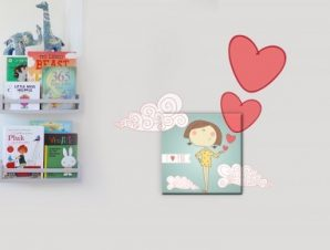Κοριτσάκι Παιδικά Πίνακες και αυτοκόλλητα 64×60