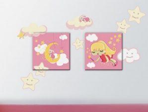 Νεράιδα Παιδικά Πίνακες και αυτοκόλλητα 104×69