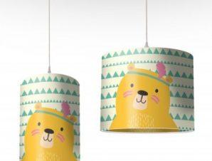 Αρκουδάκι Ινδιάνος Παιδικά Φωτιστικά οροφής Ø 25 x 40 cm