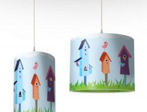 Σπιτάκια με πουλιά Παιδικά Φωτιστικά οροφής Ø 25 x 40 cm