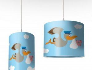 Πελαργός στον ουρανό Παιδικά Φωτιστικά οροφής Ø 25 x 40 cm