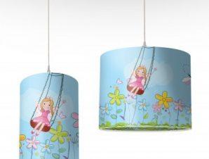 Νεράιδα Λουλουδιών Παιδικά Φωτιστικά οροφής Ø 25 x 40 cm