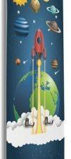 Διαστημόπλοιο και πλανήτες Παιδικά Κρεμάστρες & Καλόγεροι 45 x 138 εκ.