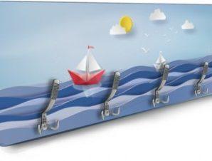 Καραβάκια και κύματα Παιδικά Κρεμάστρες & Καλόγεροι 138 x 45 εκ.